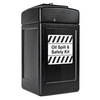Commercial Zone 739401 42 Gallon Black Oil Spill and Safety Kit Container