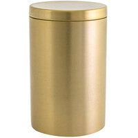 Front of the House RJR024GOS23 10 oz. Round Matte Brass Stainless Steel Jar with Lid - 12/Case