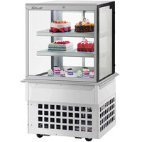 Turbo-Air TBP36-54FDN 35 1/2 inch Square Glass Three Tier Drop-In Refrigerated Bakery Display Case