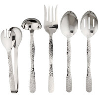 American Metalcraft 5-Piece Hammered Stainless Steel Serving Utensil Set