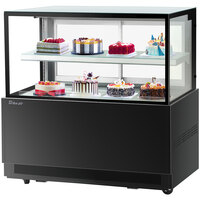 Turbo-Air TBP60-46NN 59 inch Square Glass Two Tier Black Refrigerated Bakery Display Case