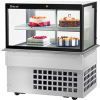 Turbo-Air TBP48-46FDN 47 inch Square Glass Two Tier Drop-In Refrigerated Bakery Display Case