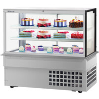 Turbo-Air TBP60-54FDN 59 inch Square Glass Three Tier Drop-In Refrigerated Bakery Display Case