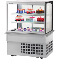 Turbo-Air TBP48-54FDN 47 inch Square Glass Three Tier Drop-In Refrigerated Bakery Display Case