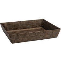 Front of the House BBK047COV22 Metroweave 11 inch x 8 inch x 2 inch Copper Mesh Woven Vinyl Basket - 6/Case