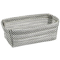 Front of the House TSH009GYV24 Metroweave 4 inch x 2 1/4 inch x 1 1/2 inch Gray Mesh Woven Vinyl Basket - 24/Case