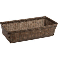 Front of the House RBA005COV22 Metroweave 7 1/2 inch x 4 1/4 inch x 2 inch Copper Mesh Woven Vinyl Basket - 6/Case