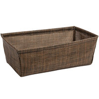 Front of the House RBA004COV22 Metroweave 8 1/2 inch x 5 inch x 3 inch Copper Mesh Woven Vinyl Basket - 6/Case