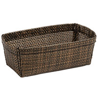 Front of the House TSH009COV24 Metroweave 4 inch x 2 1/4 inch x 1 1/2 inch Copper Mesh Woven Vinyl Basket - 24/Case