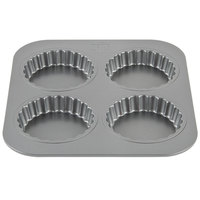 4 Compartment 3 1/2 inch Non-Stick Tart Pan
