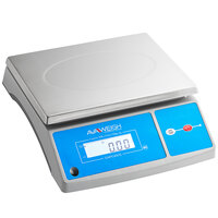 AvaWeigh PC40OS 40 lb. Digital Portion Control Scale with an Oversized Platform