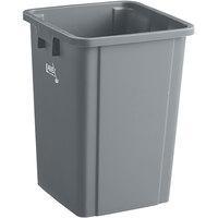 Lavex Janitorial 19 Gallon Gray Square Trash Can