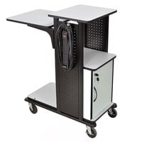 Luxor WPS4HDCE Presentation Station Cart with Locking Cabinet - 18 inch x 34 inch x 38 inch
