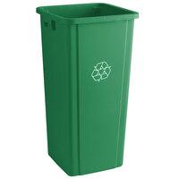 Lavex Janitorial 23 Gallon Green Square Recycle Bin