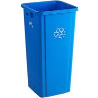 Lavex Janitorial 23 Gallon Blue Square Recycle Bin