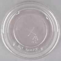 Clear PET Plastic Lid with Straw Slot for 12, 16, 21, 22, and 24 oz. Cups - 100 / Pack