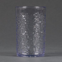 Carlisle 550807 Pebble Optic 8 oz. Clear SAN Plastic Tumbler - 24/Case