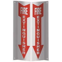 JL Industries 23S 3D Tent Plastic Fire Extinguisher Sign - 18 inch x 4 inch
