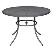 Wabash Valley SU2G38P Sullivan 48 inch Round Portable Powder Coated Steel Mesh Outdoor Umbrella Table
