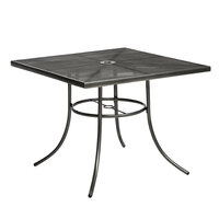 Wabash Valley SU2X38P Sullivan 30 inch Square Portable Powder Coated Steel Mesh Outdoor Umbrella Table