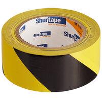 Shurtape VP 415 2 inch x 33 Yards Black / Yellow Warning Stripe Tape