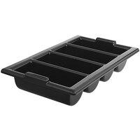 Vollrath 1375-06 Traex® Black 4-Compartment Heavy-Duty Polyethylene Cutlery Box