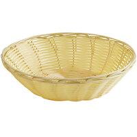Vollrath 47205 9 inch x 2 3/4 inch Round Natural-Colored Plastic Rattan Basket - 12/Case