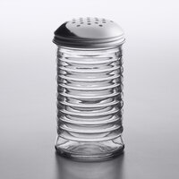 American Metalcraft BEE312 12 oz. Glass Beehive Cheese Shaker with Stainless Steel Lid