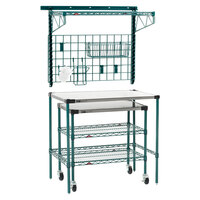Metro SMSPM2436 40 inch Super Erecta Prep Station with SmartWall and Undercounter Cart