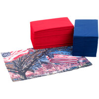 Hoffmaster 856723 10 inch x 14 inch Patriotic Placemat Combo Pack - 200 / Case