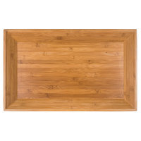 American Metalcraft BAM22 Rectangular Bamboo Tray - 21 inch x 13 inch