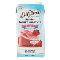 DaVinci Gourmet Strawberry Non-Fat Yogurt Fruit Smoothie Mix - 64 oz.