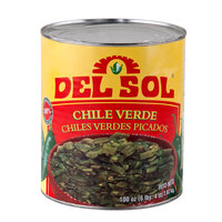 Del Sol #10 Can Diced Green Chile Peppers - 6/Case