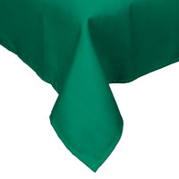 72 inch x 72 inch Green Hemmed Polyspun Cloth Table Cover