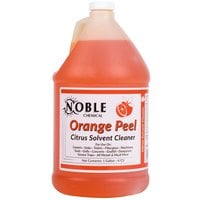 Noble Chemical 1 Gallon / 128 oz. Orange Peel Citrus Solvent Cleaner   - 4/Case