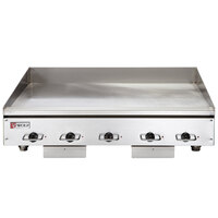 Wolf WEG60E-24C 60 inch Electric Countertop Griddle with Snap-Action Thermostatic Controls and Chrome Plate - 208V, 3 Phase, 27 kW