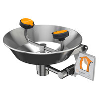 Guardian Equipment G1781 Wall Mounted All Stainless Steel Eye and Face Wash Station with Bowl