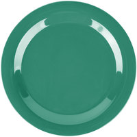 Carlisle 3300209 Sierrus 10 1/2 inch Meadow Green Narrow Rim Melamine Plate - 12/Case
