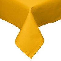 54 inch x 54 inch Gold Hemmed Polyspun Cloth Table Cover