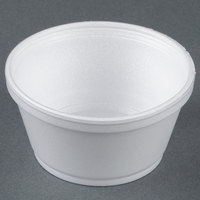 Dart Solo 8SJ20 8 oz. Extra Squat White Foam Food Bowl - 50/Pack