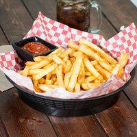 Tablecraft 157510BK 10 1/2 inch Black Plastic Diner Platter / Fast Food Basket with Base - 12/Pack