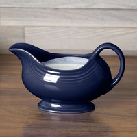 Homer Laughlin 486105 Fiesta Cobalt Blue 18.5 oz. Sauce Boat - 4/Case