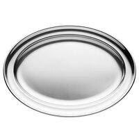 Walco O-U12 12 3/16 inch x 8 11/16 inch Stainless Steel Oval Tray