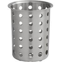 Tablecraft 34 Perforated Stainless Steel Flatware Cylinder