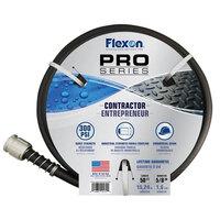 Flexon HDCG5850BKGY Pro Series 5/8 inch x 50' Black Heavy-Duty Contractor Grade Hose