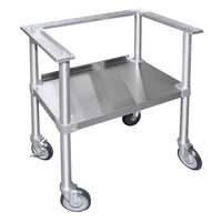 Texican Specialty Products TSS Stainless Steel 29 inch x 19 inch x 32 inch Portable Stand with Wheels for 44 Gallon Texican Chip Warmers
