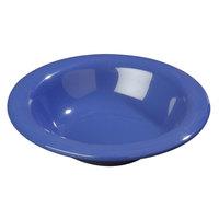 Carlisle 4304014 Durus 6 oz. Ocean Blue Rimmed Melamine Bowl - 48/Case