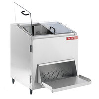 Texican Specialty Products CD-45 Chip Master 22 Gallon Stainless Steel Chip Warmer with Thick Clear Lexan Loading Doors - 120V