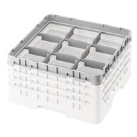 Cambro 9E2151 Soft Gray 9 Compartment Full Size Half Drop Camrack Extender