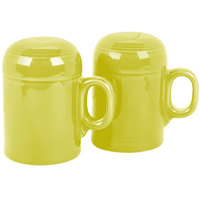 Homer Laughlin 756332 Fiesta Lemongrass Rangetop Salt and Pepper Shaker Set - 4/Case